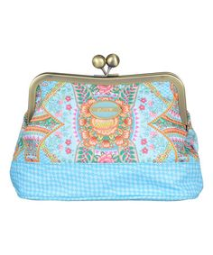Love this Lagoon Floral Kiss-Lock Cosmetic Bag on #zulily! #zulilyfinds