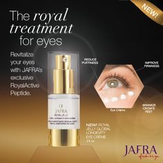 Treat your eyes to the incredible benefits of JAFRA's Royal Jelly! Ask me for details. http://jafra.me/48b2
