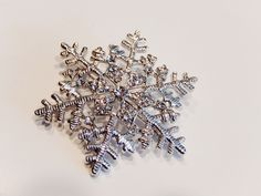 Crystal Snowflake Christmas Pin Brooch