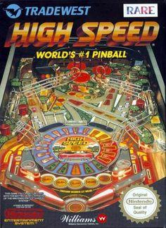 High Speed - Label or Box Art #nintendo games #gamer #snes #original #classic #pin #synergeticideas #gameon #play #award