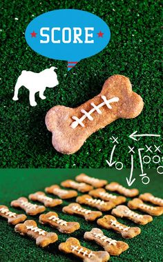 Homemade Peanut Butter Dog Biscuits Recipe - Football Inspired!