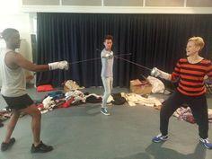 Hamlet sword fight rehearsal