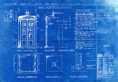 Tardis print poster dr who blueprint the tardis blueprint art of tardis blueprint from the 1976 season malvernweather Images
