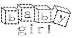 Baby Girl | Teksten Babies | glittermotifs