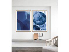 Darkblue / Aquarell Poster Kunstdrucke Bilder Deko | Etsy Illustration, Tapestry, Design, Etsy, Home Decor, Pastel, Watercolour, Minimal Poster, Black White Photos
