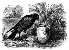 Die durstige Krähe