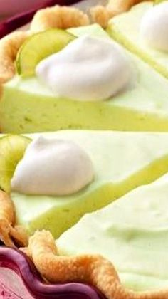"For #NationalPieDay!  -->  ""Key Lime Cheesecake Pie (use key limes, make graham cracker crust instead, use 8 oz cream cheese and cut butter down)"""