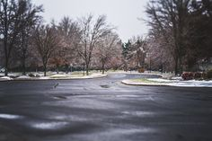 A Winters Walk Home.  Heading closer to home after a walk around the neighborhood we had to stop in the middle of the street and admire how pretty the trees looked.  So there I was in the middle of the street way down low to capture the scene you see here.  Although, we did not get the snow expected we did get a little taste of snow after the icing part left us and it began to fall.  Well, folks thank you for joining me this week I hope you all enjoyed the tour.