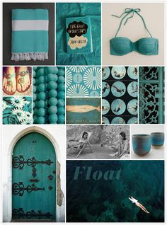 dark turquoise amalfi inspiration board