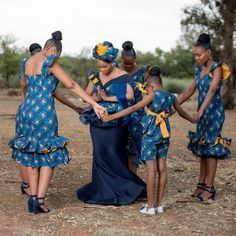 A Tswana Inspired Traditinal Wedding African Print Wedding Dress, African Bridesmaid Dresses, African Print Dress Designs, African Wedding Attire, African Attire, African Fashion Dresses, African Dress, African Weddings, African Cake