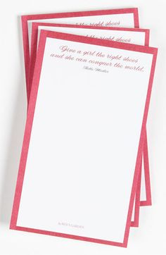 Ben's Garden 'The Right Shoes' Notepads (3-Pack) available at #Nordstrom