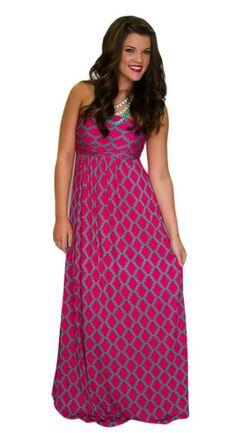 Magenta Gem Maxi Dress - HipSway