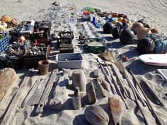 Gabriel Orozco, Objects being collected for Gabriel Orozco, Sandstars (2012) on Isla Arena, Baja California Sur, Mexico