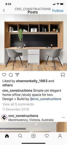 Study Office, Home Office, Office Desk, Study Space, Elegant Homes, Building Design, Corner Desk, New Homes, House