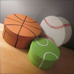 sports boxes- for toys with small pieces like mr potato head, little cars, etc Baby Bedroom, Baby Boy Rooms, Tennis Crafts, Sport Craft, Toy Rooms, Valentine Box, Baby Love, Baby Baby, Getting Old