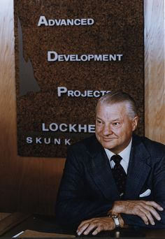 """Clarence """"Kelly"""" Johnson founded the Skunk Works® after he and his team created and delivered the XP-80 to the U.S. Army's Air Tactical Service Command in only 143 days. Johnson's  unconventional """"14 rules and practices"""" allowed the Skunk Works to operate effectively and efficiently. Find his rules here: http://www.lockheedmartin.com/us/aeronautics/skunkworks/14rules.html. (Nr 15: Never work for the Navy)."""