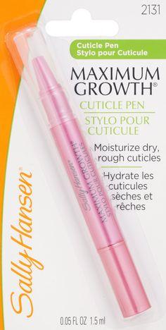 Love this cuticle pen!  found on Amazon.com : Sally Hansen Maximum Growth Cuticle Pen 0.5oz : Cuticle Creams And Oils : Beauty