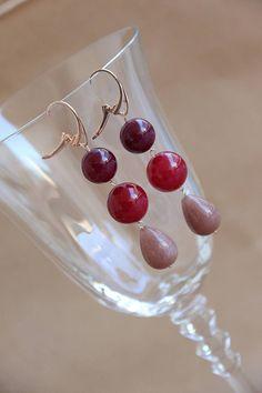 orecchini donna argento 925 bagno oro color rosa agata hand