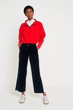 FILA Ava Wide Leg Side Stripe Trousers | Urban Outfitters | Women's | Bottoms #UOEurope #UrbanOutfittersEU