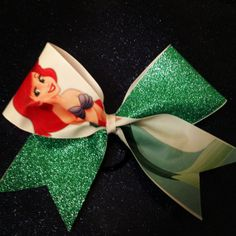 Hey, I found this really awesome Etsy listing at http://www.etsy.com/listing/155949395/little-mermaid-glitter-cheer-bow