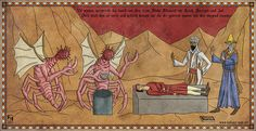 The Crusades and Lovecraft's Monsters This is a series of illustrations that imitates the style of old medieval paintings and adds a macabre flavour by incorporating some of H. The text is mostly medieval Middle High German. Hp Lovecraft, Lovecraft Cthulhu, Call Of Cthulhu Rpg, Lovecraftian Horror, Medieval Paintings, Famous Monsters, Arte Horror, Horror Art, Medieval Art