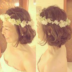 伸ばさなくても大丈夫!ショート&ボブの花嫁さんにおすすめの髪型カタログ♡ | marry[マリー]