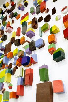 Frammenti is a wall installation of 417 candy-coloured ceramics shapes by Argentine ceramicist Silvia Zotta.