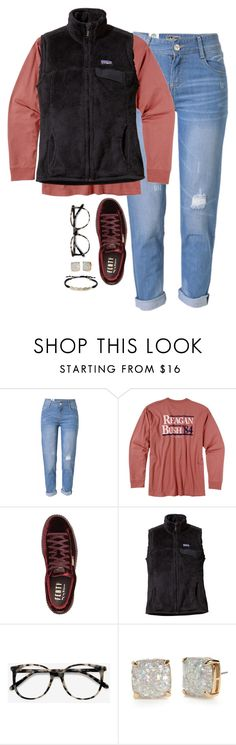 """""""Galantines day is almost here!"""" by amberfmillard-1 ❤ liked on Polyvore featuring WithChic, Rowdy Gentleman, Puma, Patagonia, Ace, Kate Spade and Tai"""