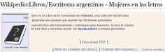 A Wikipedia site on Argentine women writers