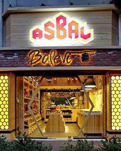 «Вкусный» дизайн магазина мёда Asbal Balevi в Турции