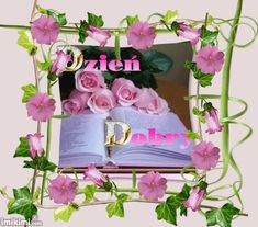 Wiersze,Gify Na Dzień Dobry ...: Gify na dzien dobry - kwiaty Beautiful Gif, Good Morning, Floral Wreath, Wreaths, Stock Photos, Decor, Funny, Polish, Buen Dia