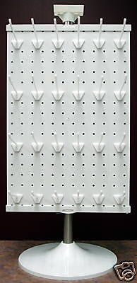 2 Sided White or Black Counter Top Peg Board Spinner Rack Display with Hooks . 2 Sided White or Black Counter Top Peg Board Spinner Rack Display with Hooks Vendor Displays, Craft Booth Displays, Market Displays, Craft Stall Display, Gift Shop Displays, Retail Displays, Merchandising Displays, Store Displays, Craft Show Booths