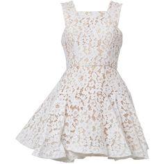Alex Perry 'Kea' dress found on Polyvore featuring dresses, платья, white, white dress, alex perry and alex perry dresses