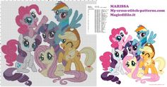 cross stitch pattern for children my little pony