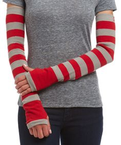 Another great find on Tango Red & Paloma Gray Stripe Arm Warmers Ski Sweater, Grey Stripes, Tango, Leg Warmers, Toddler Girl, Infant, Arms, Turtle Neck, Wool