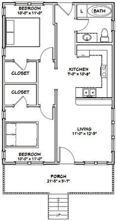 PDF house plans, garage plans, & shed plans. Guest House Plans, 2 Bedroom House Plans, Cottage Floor Plans, Small House Floor Plans, 2 Bedroom Apartment Floor Plan, The Plan, How To Plan, Indian House Plans, Garage Apartment Plans