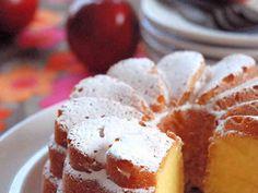 りんごのクリームケーキの画像