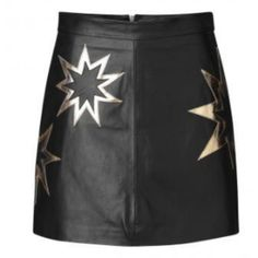 Atomic Starlight Skirt ($85) ❤ liked on Polyvore featuring skirts, party skirts, christmas party skirt, going out skirts, leather skirts and real leather skirt