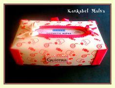 Caja Porta Kleenex en goma eva por kaskabel malva.