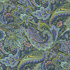 Windham Fabrics Dover Flannel Paisley - Navy | Fabric Depot