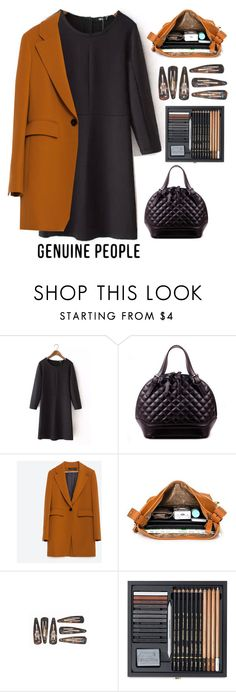 """""""GENUINE-PEOPLE"""" by rarranere ❤ liked on Polyvore featuring Zara, women's clothing, women's fashion, women, female, woman, misses, juniors and Genuine_People"""