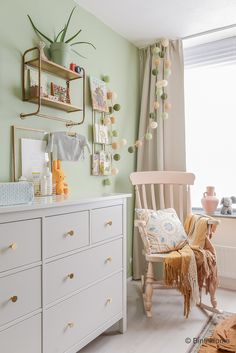Kindergarten Inspiration von Souraya von Binti Home - Kommode Baby Nursery Decor, Baby Bedroom, Baby Decor, Nursery Room, Kids Bedroom, Ideas Habitaciones, Baby Room Themes, Baby Room Design, Nursery Design