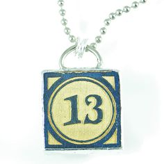 Number 13 Pendant by XOHandworks $20