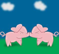 Piggy smooches