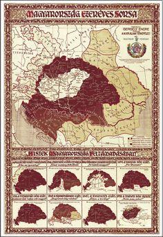 Magyarország (662×960) Strategy Map, Fantasy Map, Old Maps, Vintage Maps, Driftwood Art, Folk Music, Historical Maps, Cartography, World History