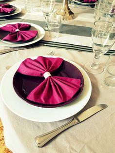 Une belle table c'est un plaisir ! Rond de serviette argenté réalisés par mes soins ici sans prénom - L'Instant C Etsy