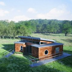 Students at the Missouri University of Science and Technology refurbished three disused shipping containers to build a house that proves...