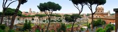 Panoramic view of Rome from the Forum. Love this photo from my 2009 trip. johnc@magicaworldvacations.net #travel #vacation #Roma #Italia #Italy