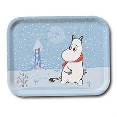 Dieses winterliche Mumin-Tablett hat ein Motiv namens