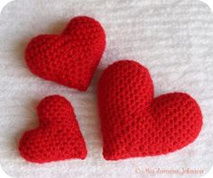 Amigurumi - free hearts pattern